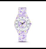 Colori Horloge FunTime 34MM Purple Flowers 3ATM