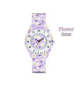 Colori Horloge 34MM FunTime Purple Flowers