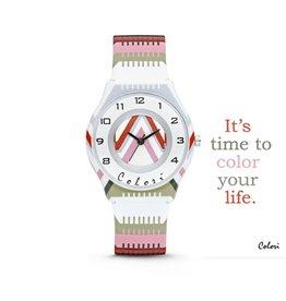Colori Horloge 34MM FunTime Stripes