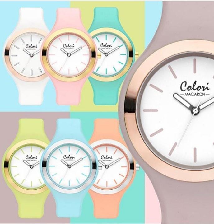 Colori - Macaron Horloge Macaron Pink 5-COL432
