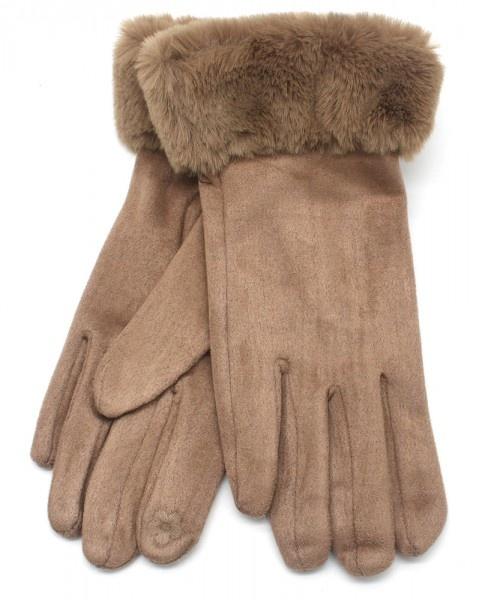 Dames Handschoenen Aiden Soft Fur - Brown
