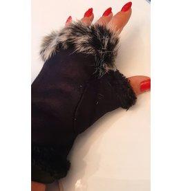 Handwarmers met nep Bont Black
