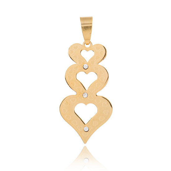 Hanger Hearts Stainless Steel Gold
