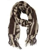 Sjaal Zebra print Brown-White