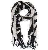 Sjaal Zebra print Black-White