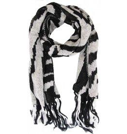 Sjaal Zebra print Black -White