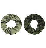 Scrunchie GREEN  - set van 2