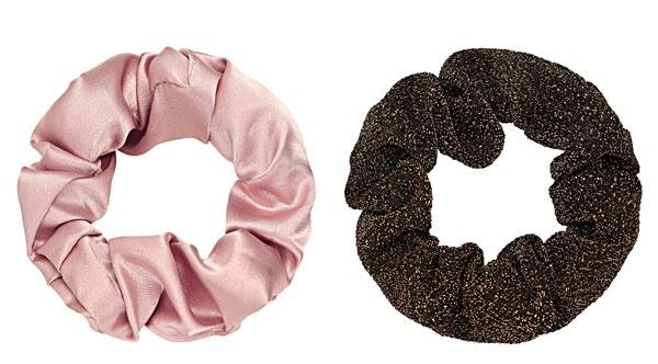 Scrunchie OLD PINK -BROWN - set van 2