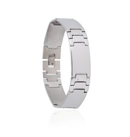 Edelstalen Armband Plates - 21,5 cm