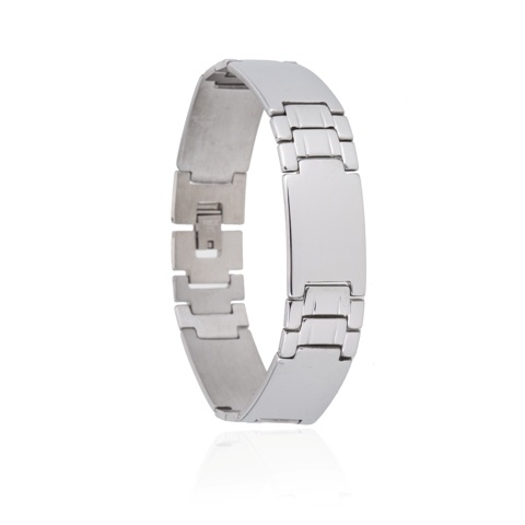Armband Plates - Edelstaal - 21,5 cm