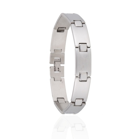 Armband Plates - Edelstaal - 20,5 cm