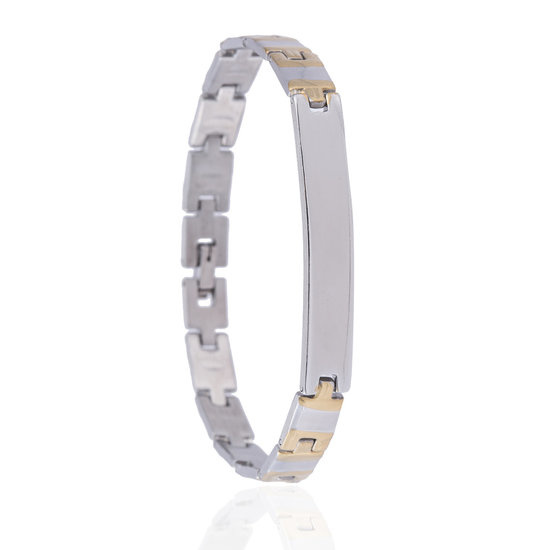 Armband Small Plates - Stainless Steel  20,5 cm
