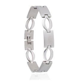 Edelstalen Armband Ovals - 22 cm