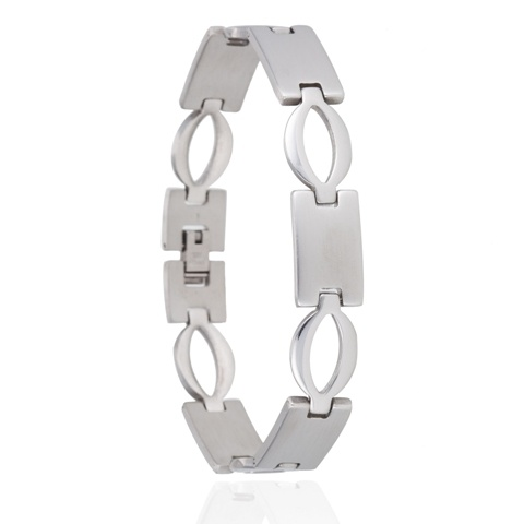 Armband Ovals - Stainless Steel - 22 cm