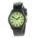 Ernest Horloge Compass - Zwart Lime