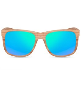 Zonnebril Wood Look Green Unisex  2474