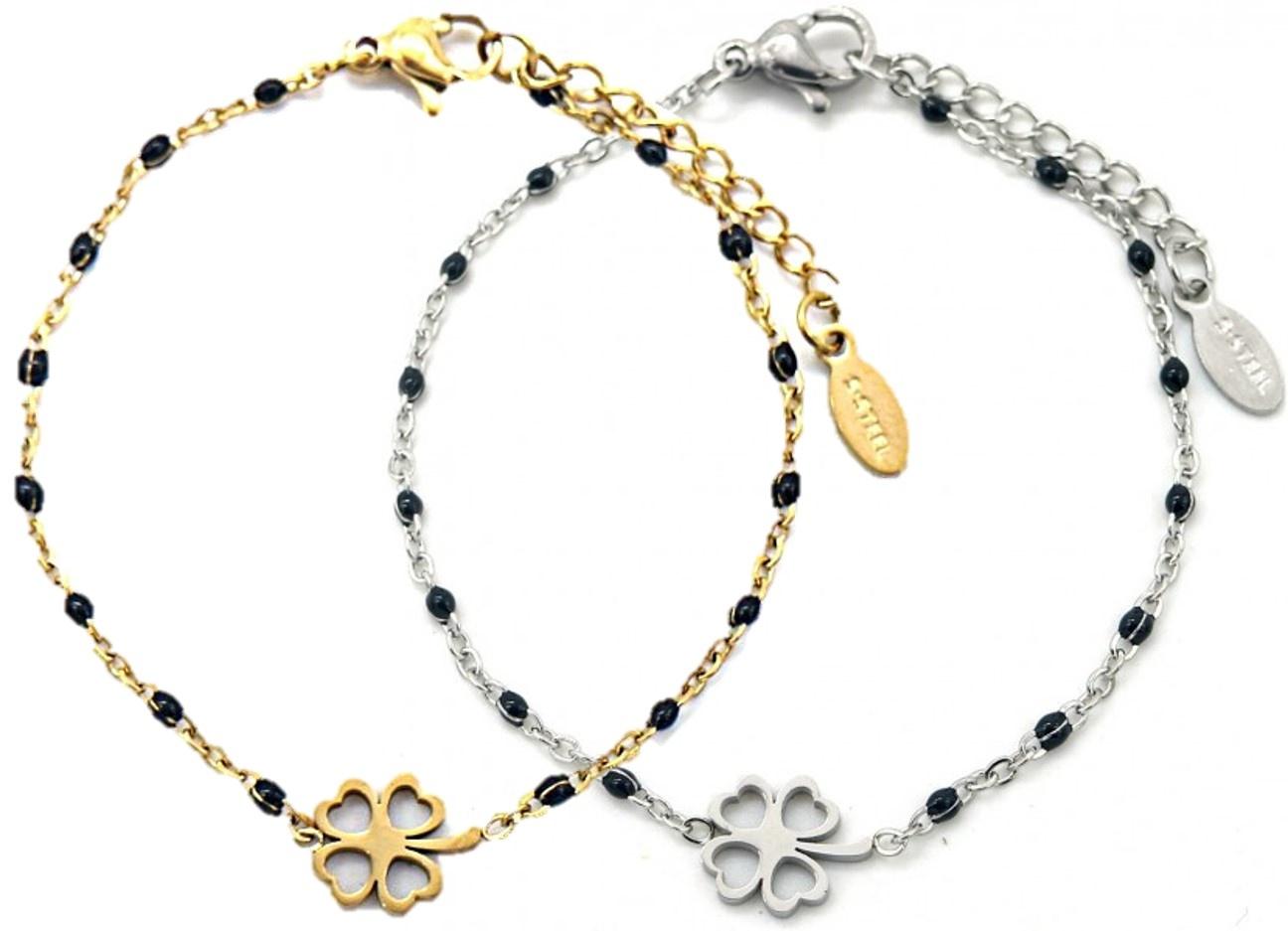 "Sazou Jewels Armband ""Geluk"" Stainless Steel Goud of Zilver"