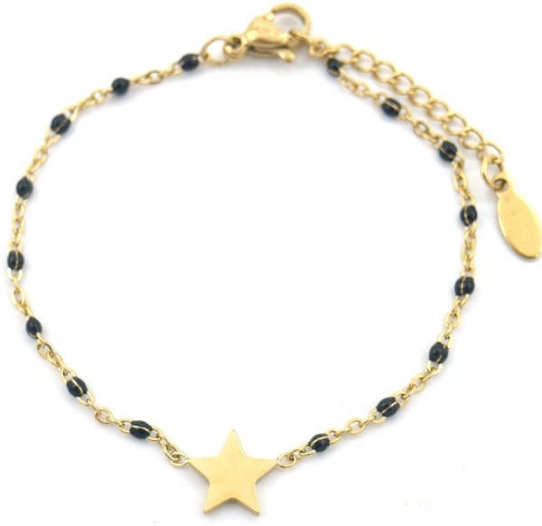 "Sazou Jewels Armband ""Star"" Stainless Steel Goud of Zilver"