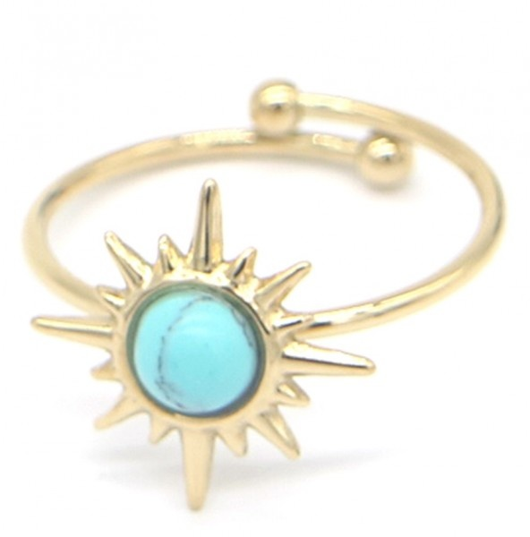 """Verstelbare Ring """"Sun"""" Stainless Steel Gold Plated"""