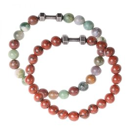 Sazou Jewels Armband Natural Stones Jaspis