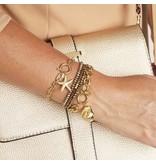 Stainless Steel Schakel Armband met Starfish bedel