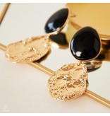 Statement Oorbellen Lovely Vintage Vibe Black-Gold