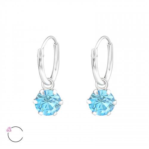 La Crystale 925 Sterling Zilveren Creolen met Swarovski® Crystals