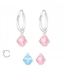 La Crystale Oorbellen met Swarovski® Crystals 925 Sterling Zilver