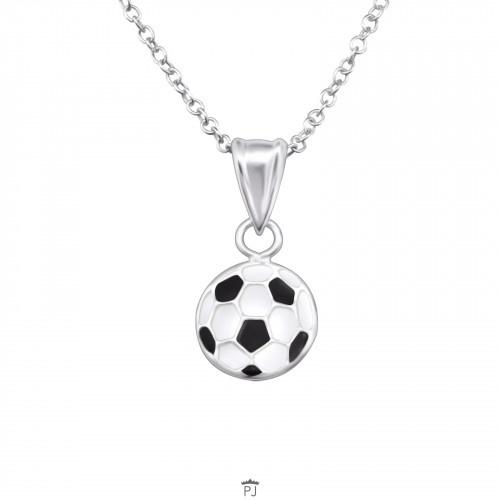 925 Sterling Zilveren Ketting met voetbal hanger