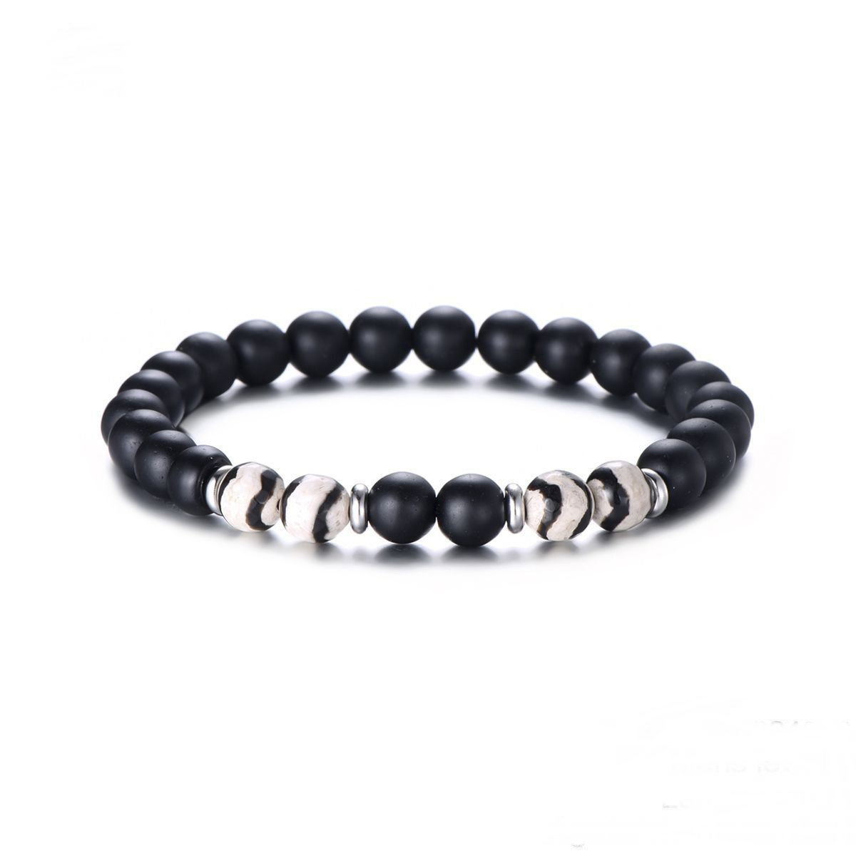 Armband Zebra - Just For Him - Natural Stones - Stainless Steel