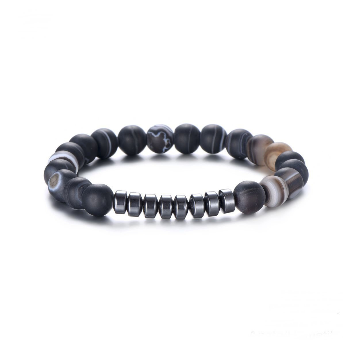 Armband Stripe - Just For Him - Natural Stones - Hematiet