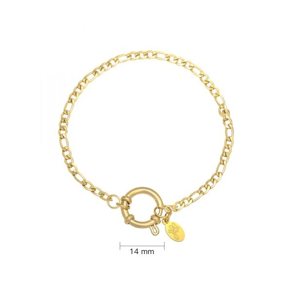 Schakel armband Stainless Steel Faye Gold Plated