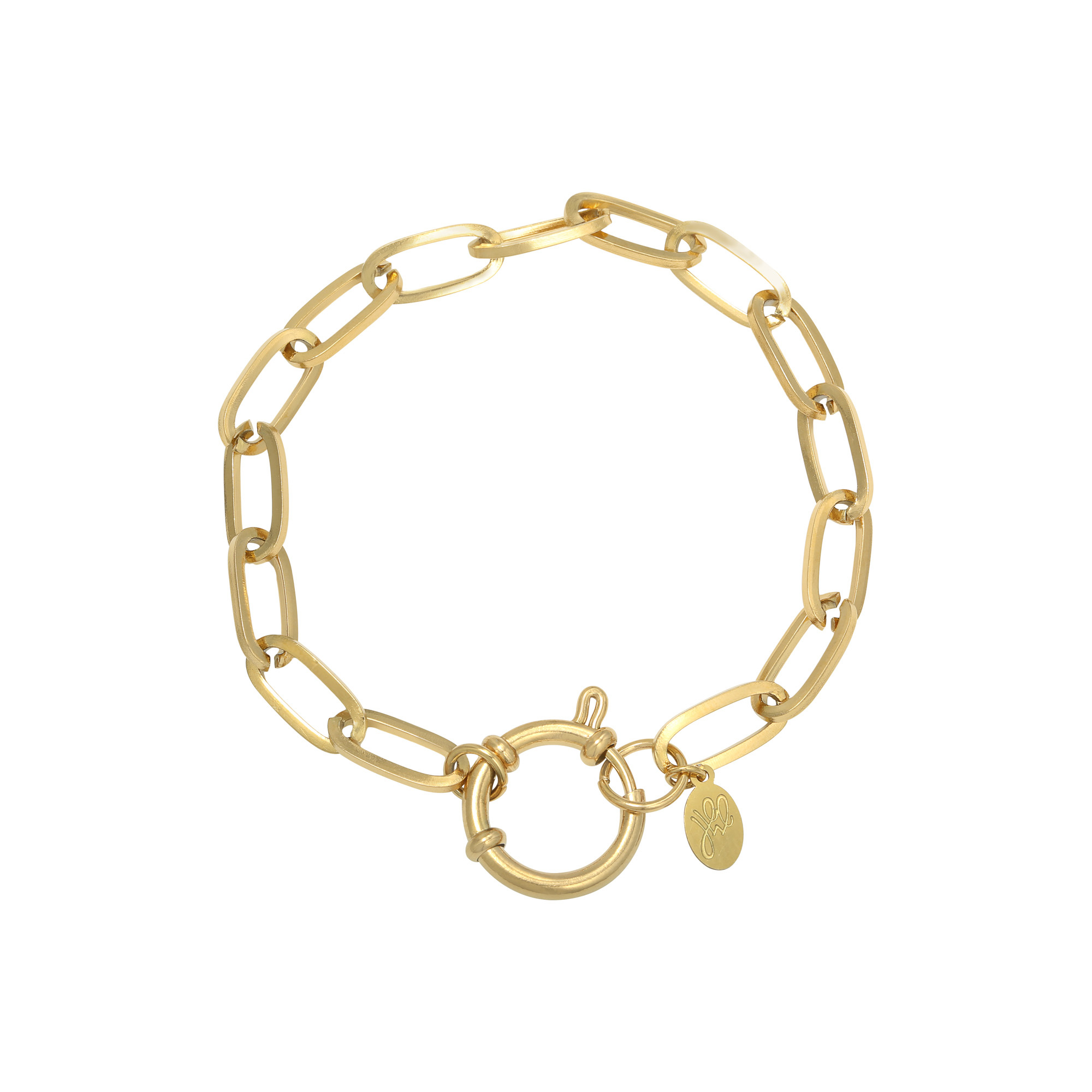 Schakel armband Stainless Steel Eve Gold Plated