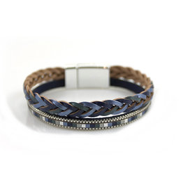 Armband Metallic Shine Blauw