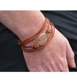 A-Zone Armband Leer Brown