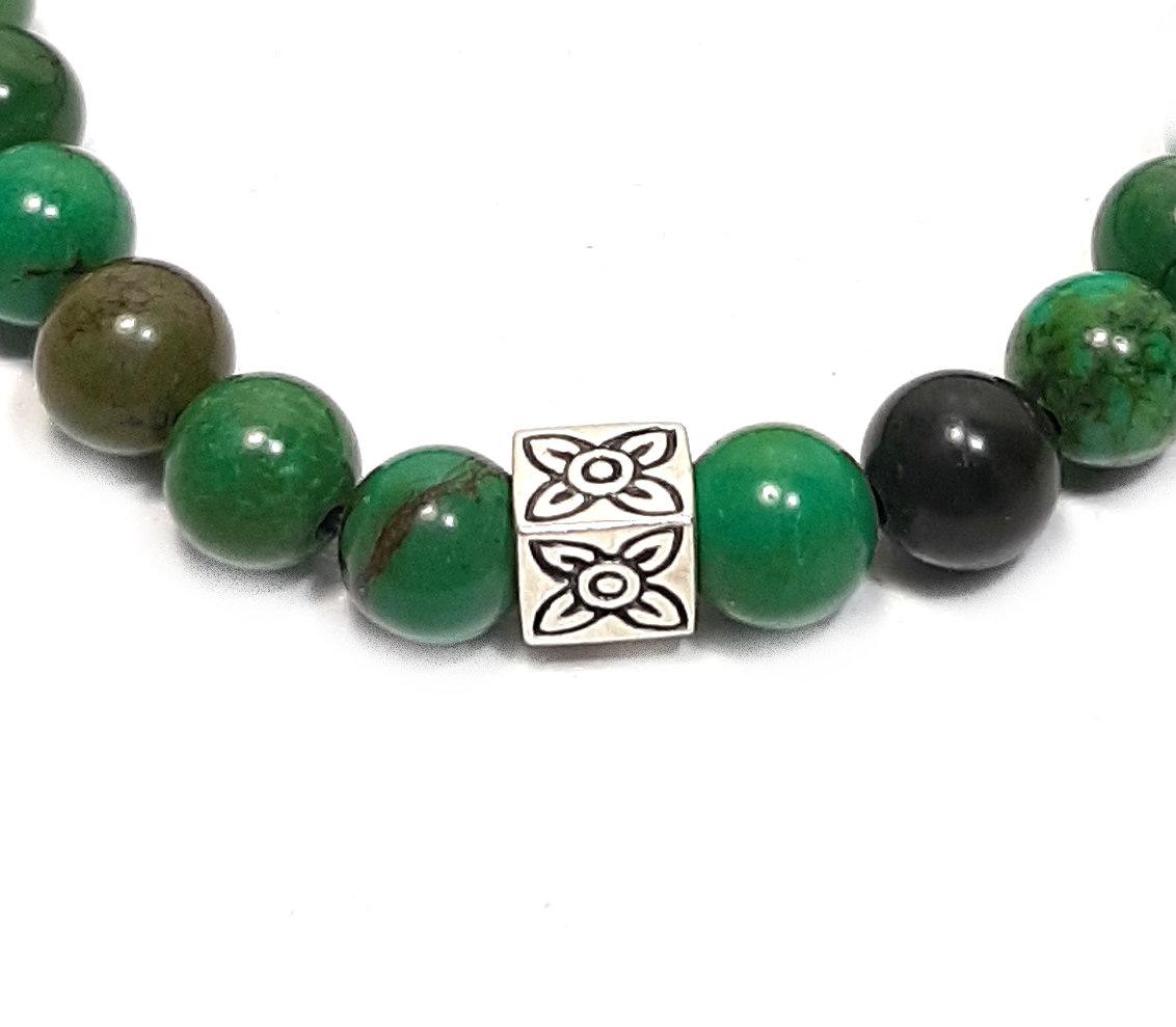 Sazou Jewels Armband Natural Stones Jaspis / 925 Sterling Zilver