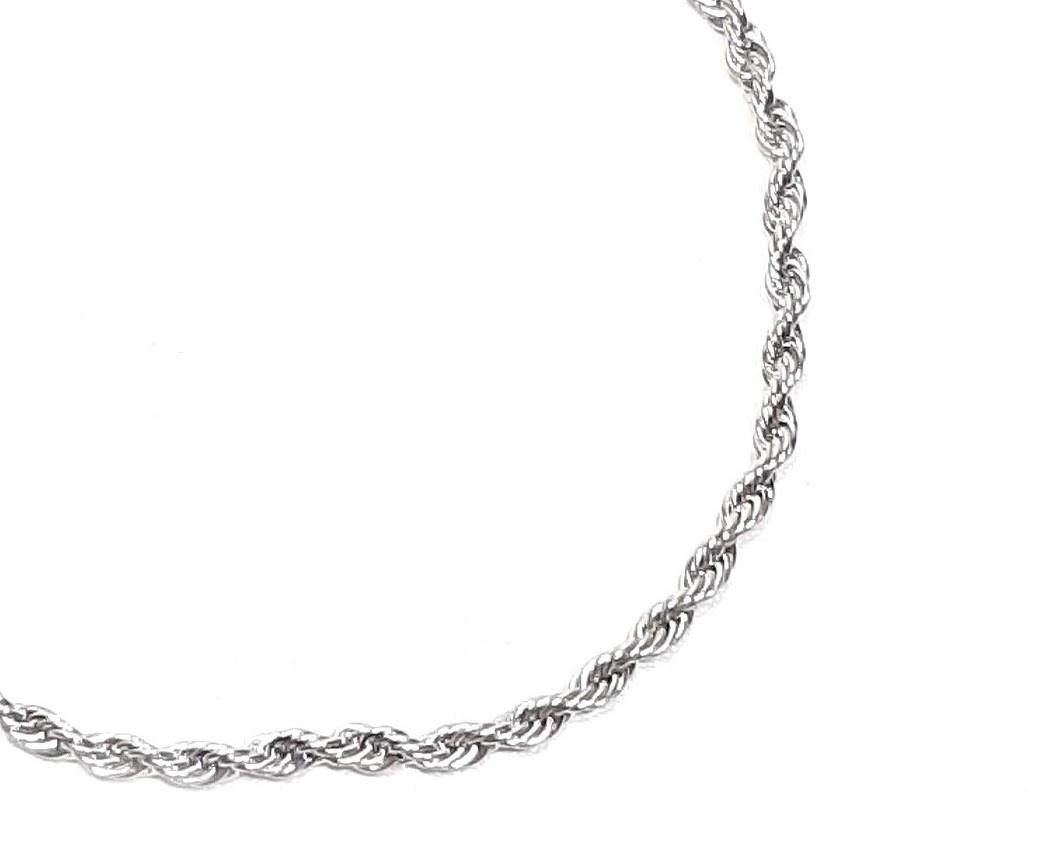 Sazou Jewels Enkelbandje Stainless Steel Twist