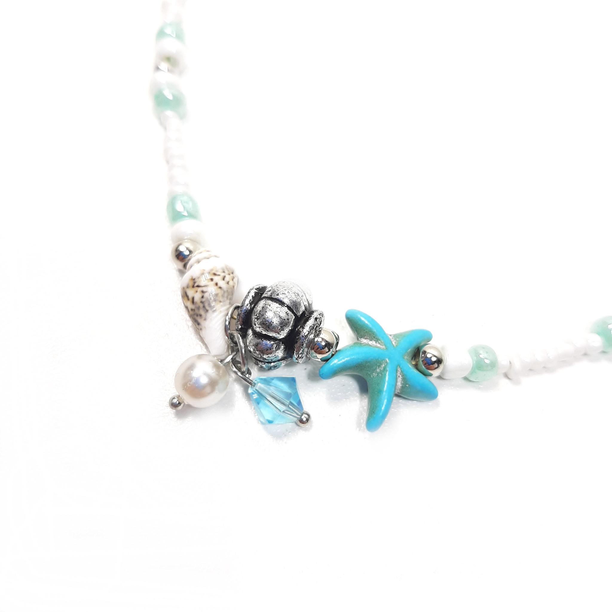 Sazou Jewels Enkelbandje Starfish & Shells