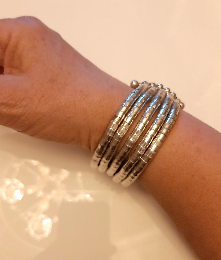 A-Zone Flexibele Open Armband Zilver