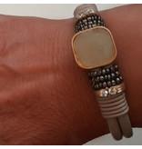 A-Zone Armband Leer Fancy