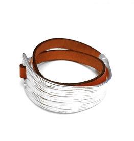 A-Zone Armband Leder met Metalen Element