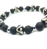 Sazou Jewels Armband Natural Stones Lava & Bone by Sazou Jewels