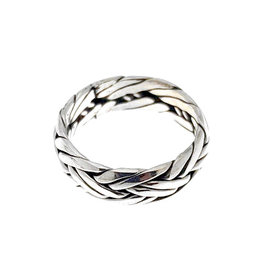 "Zilveren Ring ""Double Braided"" - 925 Sterling Zilver"