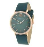 Ernest Horloge Cindy Petrol Rose Goud met een 40 mm kast