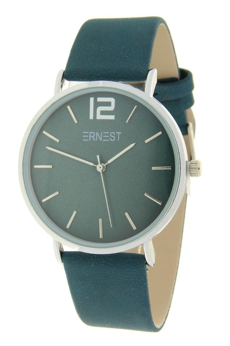 Ernest Horloge Cindy Petrol Zilver met een 40 mm kast