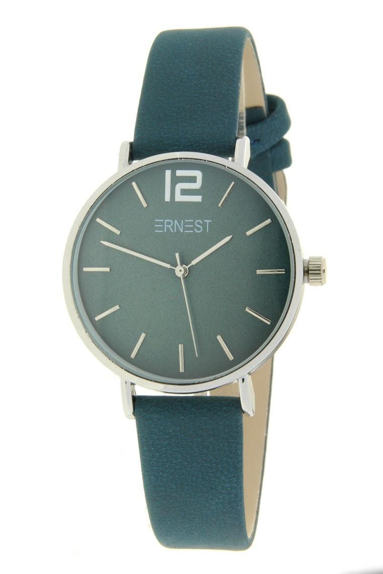 Ernest Horloge Cindy Petrol Mini Zilver met een 31 mm kast