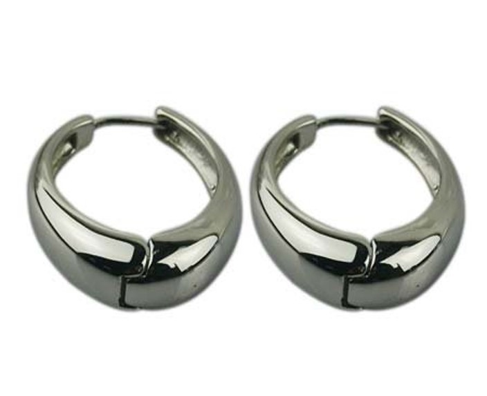 Oorbellen klapcreolen Paris Stainless Steel Zilver