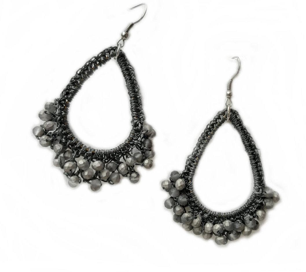 Oorbellen Glamour Grey