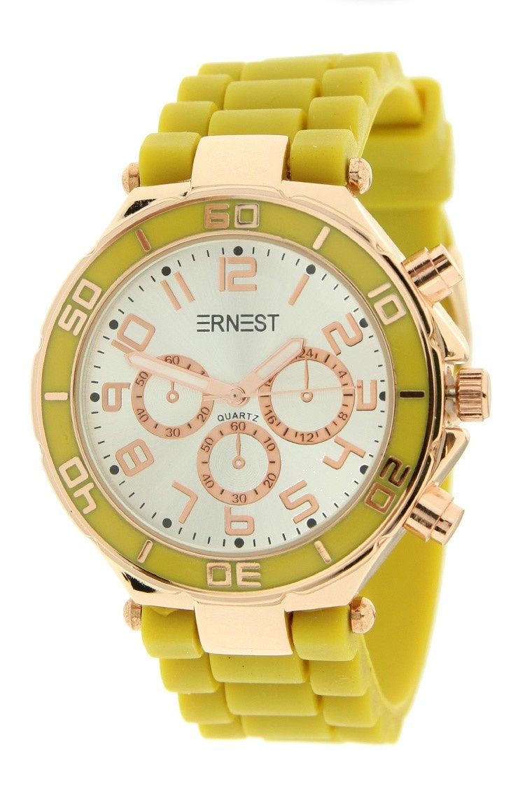 Ernest Horloge Rose Case Mostard 7006