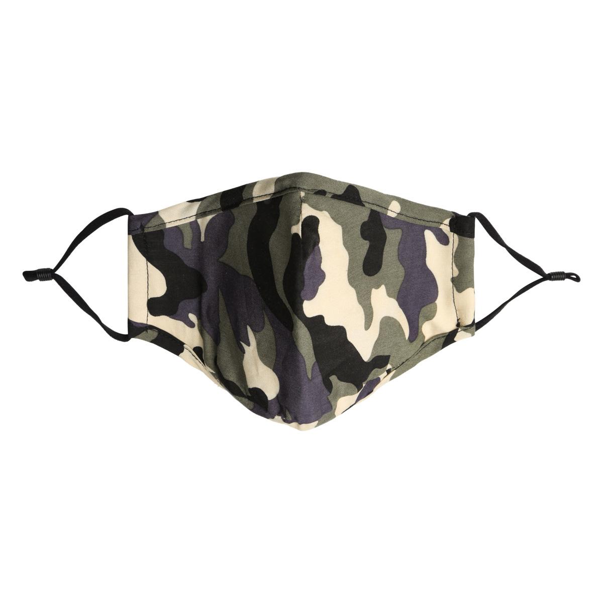 Mondkapje Fashion  Camouflage Green